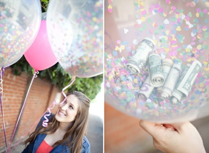 idee-regalo-migliore-amica-palloncini-interno-coriandoli-colorati-soldi-idea-regalare-soldi-occasione-anniversario