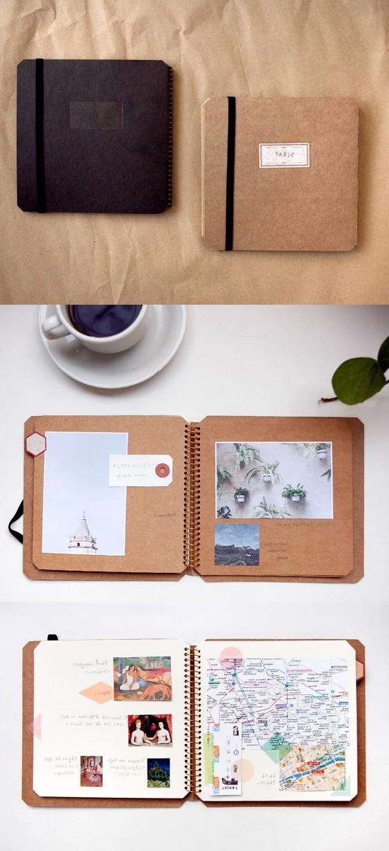 lavoretti-creativi-da-fare-a-casa-diario-viaggio-decorato-foto-disegni-immagini-notebook-scrapbookign-tecnica-interessante