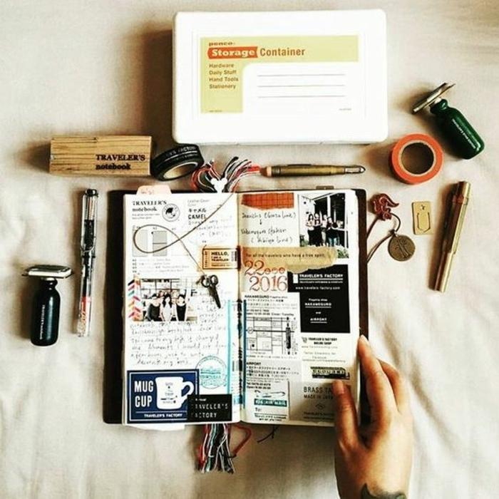 lavoretti-creativi-diario-vacanza-idee-viaggiare-scotch-nastro-adesivo-matita-citazioni-collage-foto