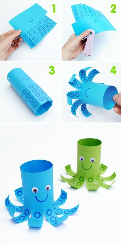 lavoretti-creativi-per-bambini-piovre-colorate-realizzate-riciclando-rotoli-carta-igienica