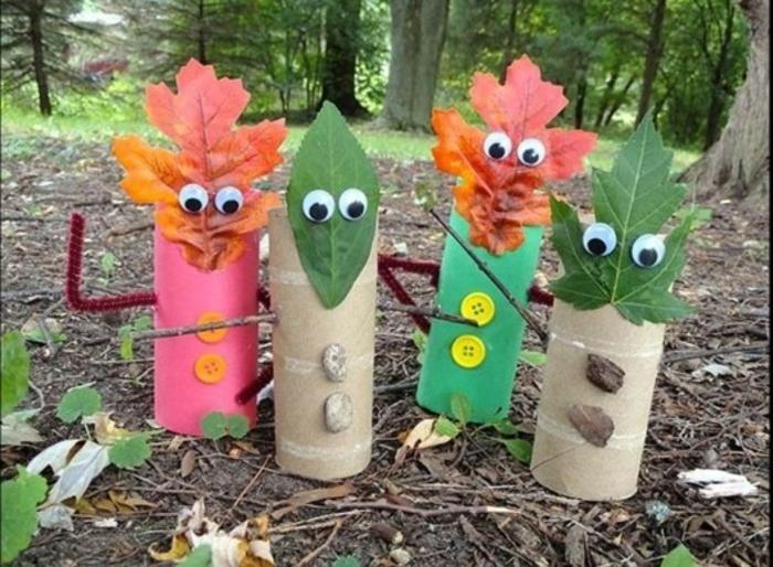 lavoretti-facili-per-bambini-realizzati-rotoli-carta-igienica-foglie-albero-occhi-mobili-bottoni