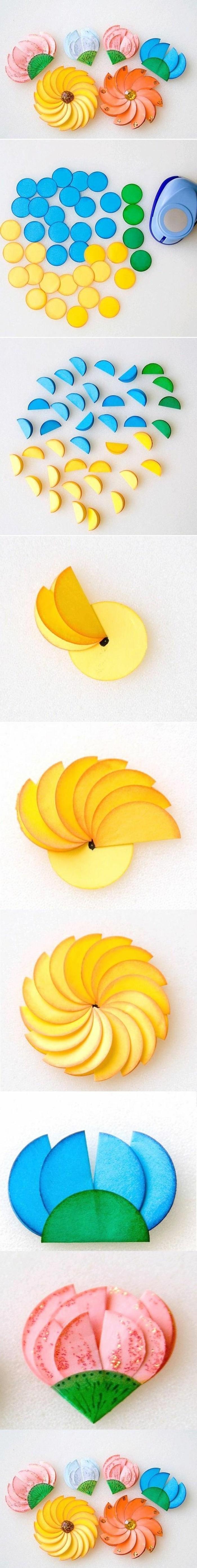 lavoretti-per-bimbi-idea-creativa-realizzare-fiori-colorati-urtilizzando-carta-tecnica-bricolage