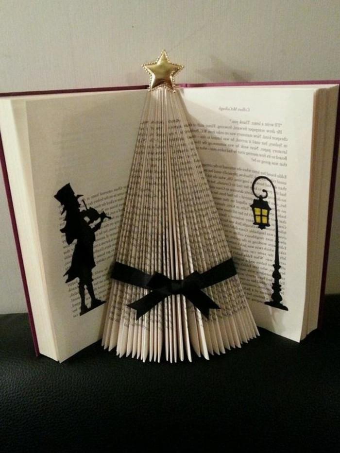 libro-origami-come-creare-albero-natale-piegando-pagine-libro-applicando-figure