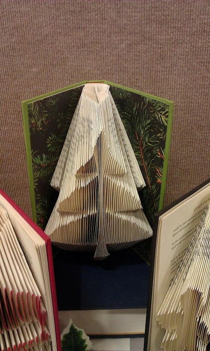 libro-piegato-come-fare-abeti-utilizzando-pagine-vecchio-libro-copertina-rigida