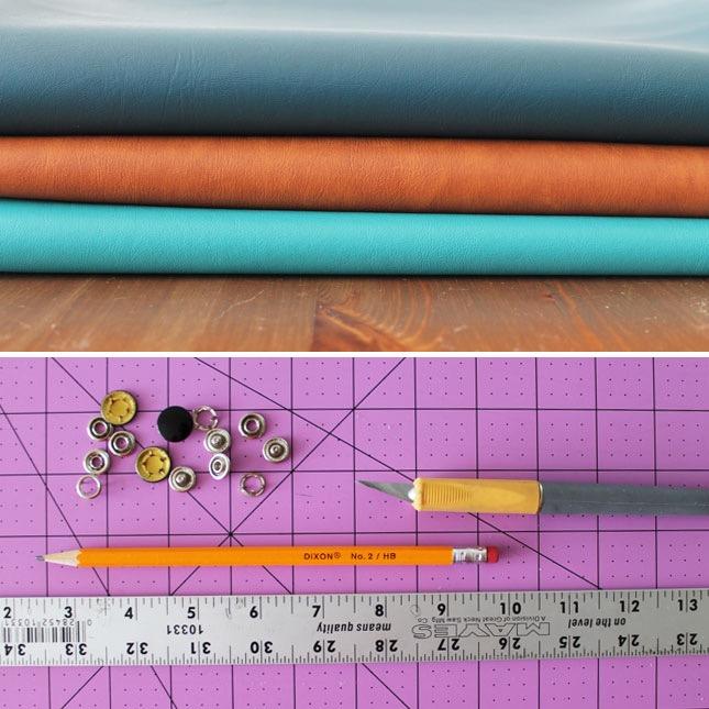 materiali-necessari-per-realizzare-un-supporto-cavi-idea-regalo-papà-pezzi-pelle-colorata