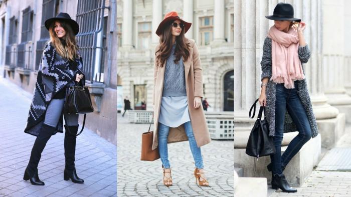 moda-autunno-vestiti-cappelli-mantella-cappotto-jeans-pantalone-sciarpa-stivali-accessori-borse