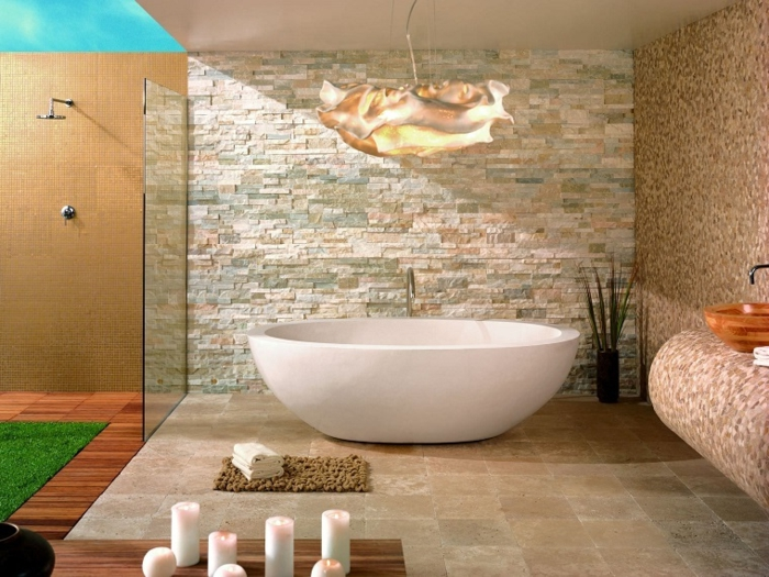 ▷ idee per il bagno senza piastrelle molto creative