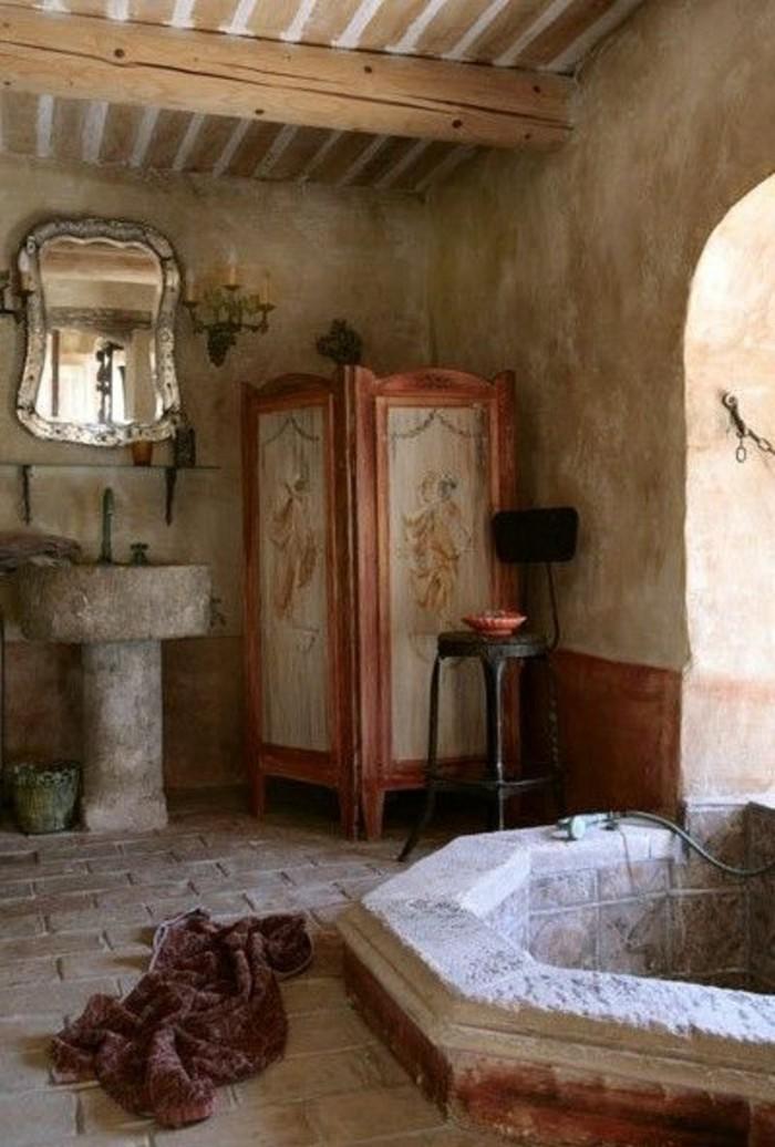 1001 idee per il bagno senza piastrelle molto creative - Bagno in pietra ...