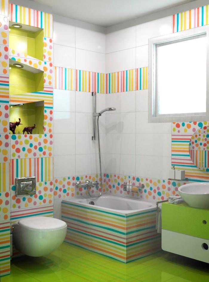 1001 idee per decorazioni bagno idee originali - Piastrelle colorate per bagno ...