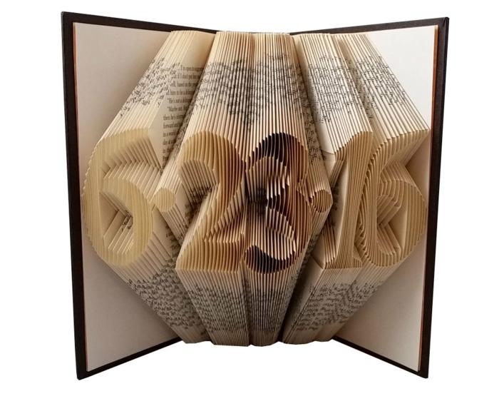 Eccezionale ▷ 1001+ idee per piegare libri creando forme originali WO58