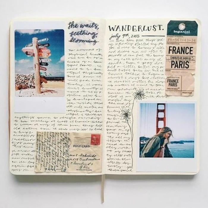 racconti-di-viaggio-diario-copertina-rigida-foto-collage-vancanze-scritte-cartoline-biglietti