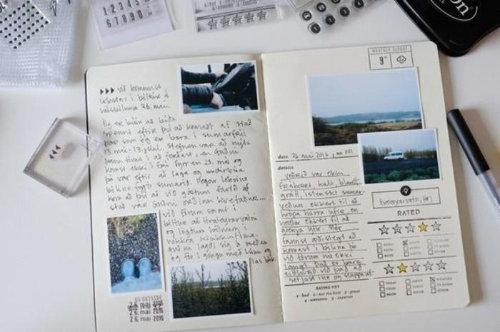 racconti-di-viaggio-diario-idea-foto-collage-cartoline-francobolli-penna-scritta-idea-decorazione