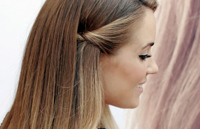 ragazza-capelli-lisci-castano-chiaro-sfumature-bionde-lati-raccolti-dietro-orecchie
