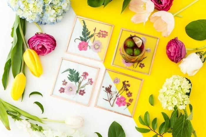 regalo-amica-dei-sotto-biccbieri-artistici-realizzati-fai-da-te-fiori-foglie-varie-forme-colori