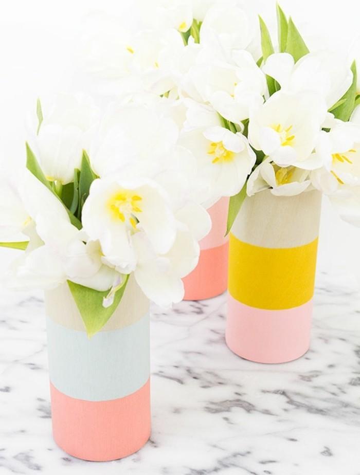 regalo-amica-speciale-vasetto-cilindrico-colori-diversi-intero-fiori-bianchi-idea-fai-da-te