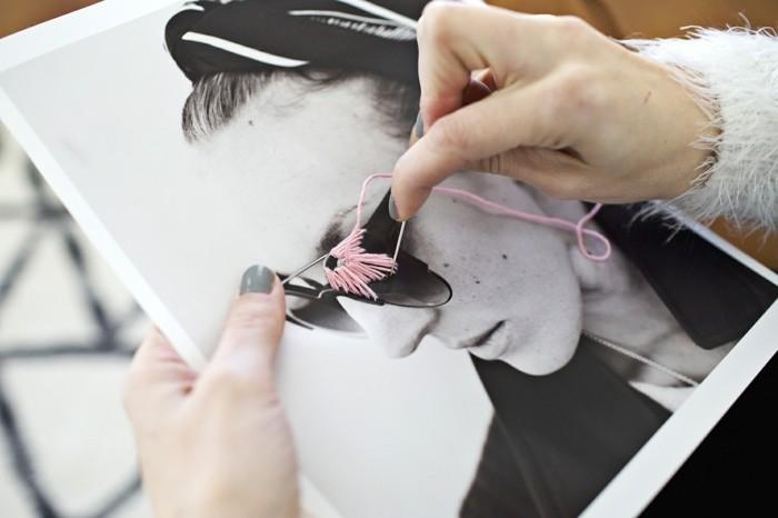 regalo-per-la-migliore-amica-idea-foto-personalizzare-filo-lana-colorato-rosa