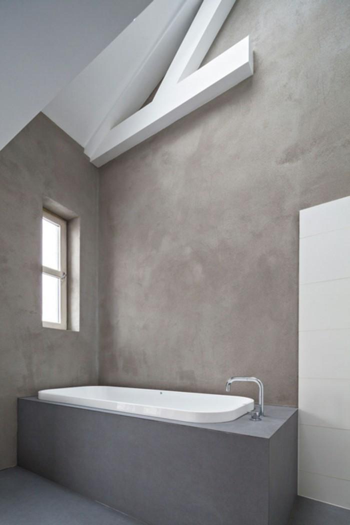 1001 idee per il bagno senza piastrelle molto creative - Piastrelle grigie bagno ...