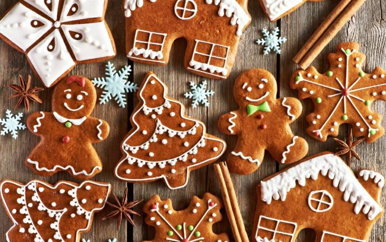 Come decorare i biscotti di Natale con glassa reale e pasta di zucchero di colore bianco