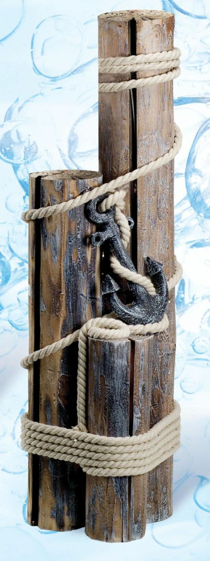 riciclo-creativo-materiali-legno-stile-rustico-ancora-corda-pezzi-legno-varia-dimensione