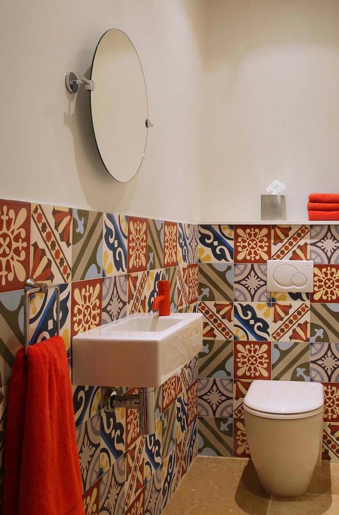1001 idee per decorazioni bagno idee originali - Decorazioni per piastrelle bagno ...