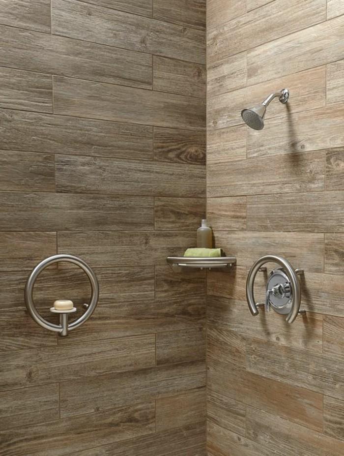 1001 idee per il bagno senza piastrelle molto creative - Rivestimento bagno effetto legno ...