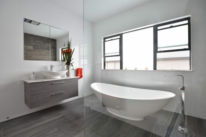 1001 idee per il bagno senza piastrelle molto creative - Wandgestaltung badezimmer ohne fliesen ...