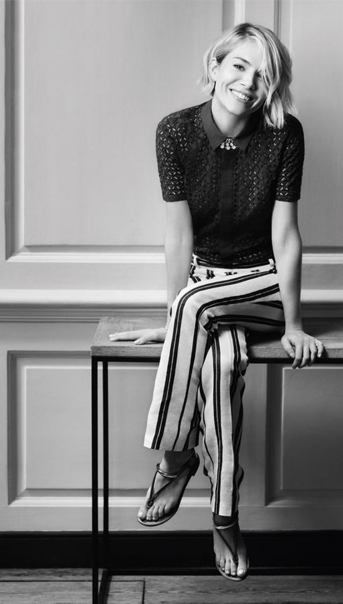 tagli-caschetto-Sienna-Miller-foto-bianco-nero-versione-corta-look-naturale-ciuffo-lato