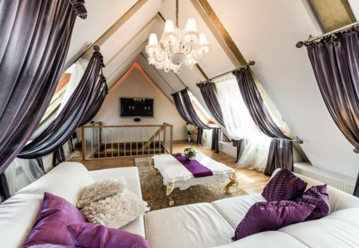tenda-finestra-mansarda-idea-tanti-elementi-bastone-tessuto-elegante-color-lilla