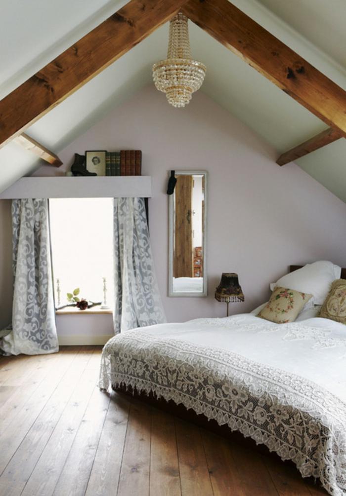 tende-finestre-mansarda-soluzione-scorrimento-tessuto-oscurante-fantasia-floreale-soffitto-travi-legno