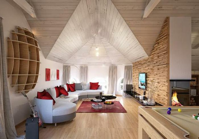 tende-mansarda-soluzione-quattro-elementi-scorrimento-tessuto-bianco-stanza-moderna-camino-parete-pavimento-legno