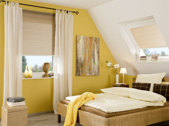 1001 idee per tende per mansarda per tutte le esigenze - Tende finestra camera da letto ...