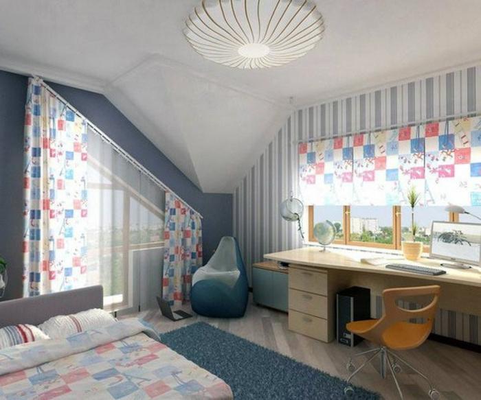 1001 idee per tende per mansarda per tutte le esigenze - Tende per camera ragazzi ...