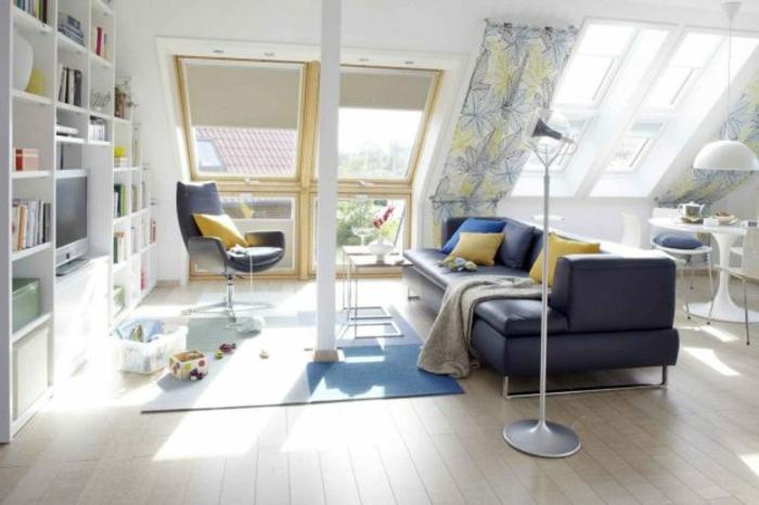 tende-per-mansarde-finestra-grande-obliqua-soluzione-bastone-tessuto-fantasia
