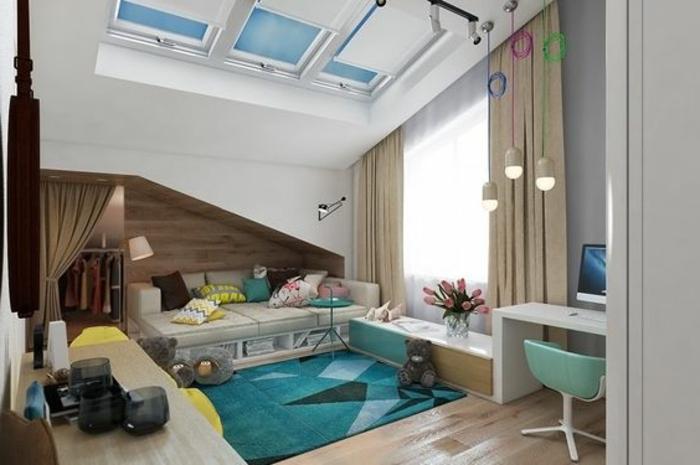 tende-per-mansarde-soluzione-binari-finestra-grande-tessuto-oscurante-beige-pavimento-parquet