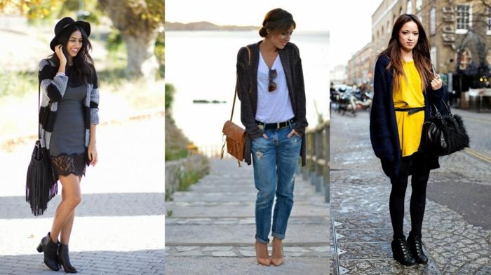 tre-proproste-abbigliamento-casual-donna-vestito-giallo-jeans-boyfriend-camicia-cardigan-lungo-vorse-tracolla
