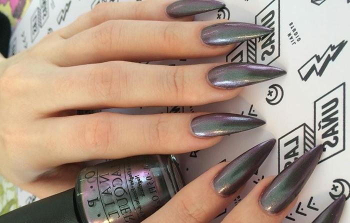 unghie-gel-color-metallizzato-forma-punta-smalto-O.P.I.-marca-prodotto-migliore