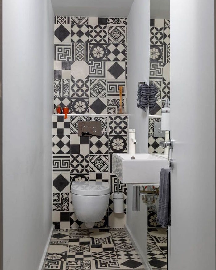 wc-design-toilette-nero-bianco-bagno-piccolo-francese-mobili-sanitari-design-moderno