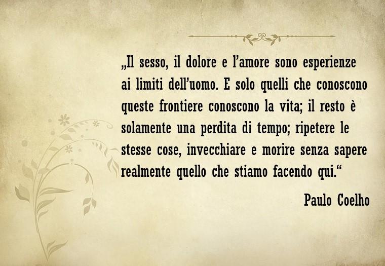 Frasi amore, citazione tratta da un libro dello scrittore Paulo Coelho