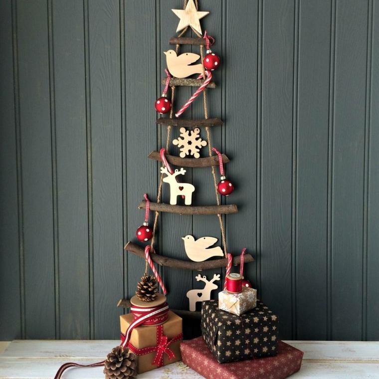 1001 idee per decorazioni natalizie anche fai da te - Decorazioni natalizie in legno ...