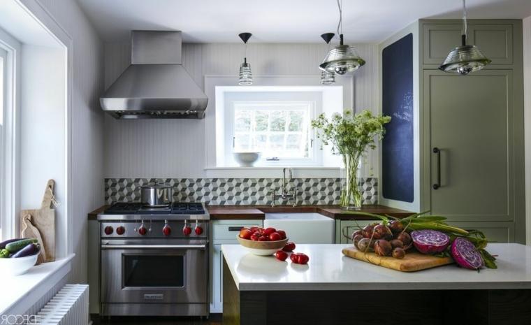 Cucine Moderne Con Isola Centrale. Fabulous Moderno Metallo Centrale ...