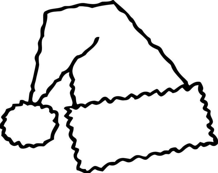 un disegno di natale facile da realizzare anche dai bimbi: il cappello di babbo natale