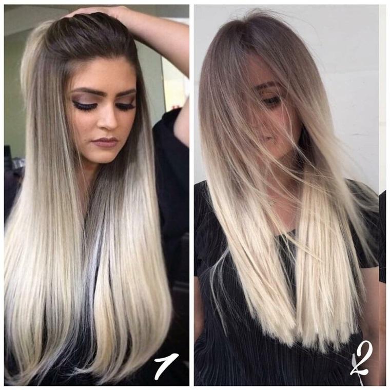 Taglio capelli lunghi e scalati