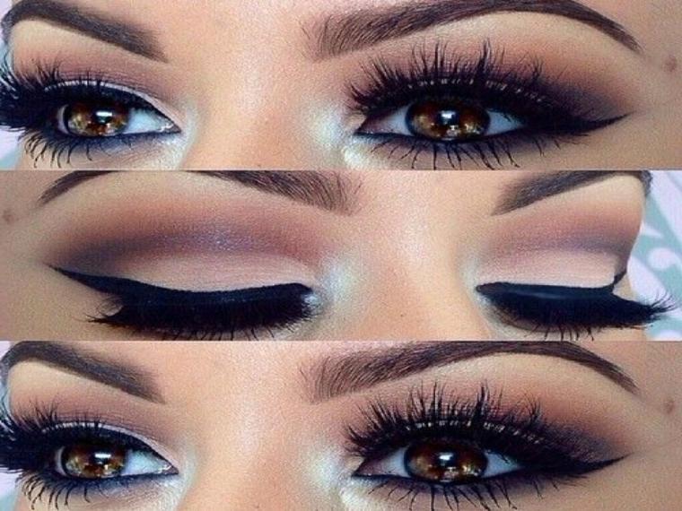 come si truccano gli occhi con eye liner e ombretti per renderli più profondi