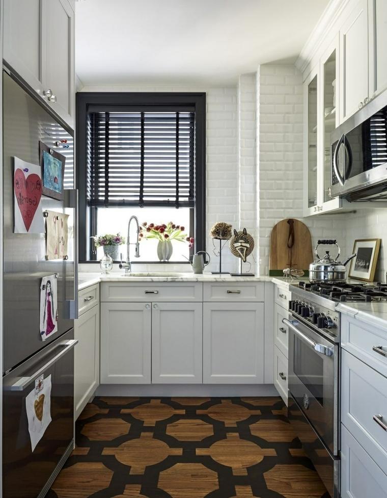 1001 idee per cucine moderne piccole soluzioni di design - Cucine legno e acciaio ...