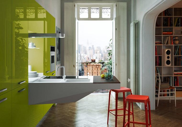 1001 idee per cucine moderne piccole soluzioni di design for Arredare cucine piccole dimensioni