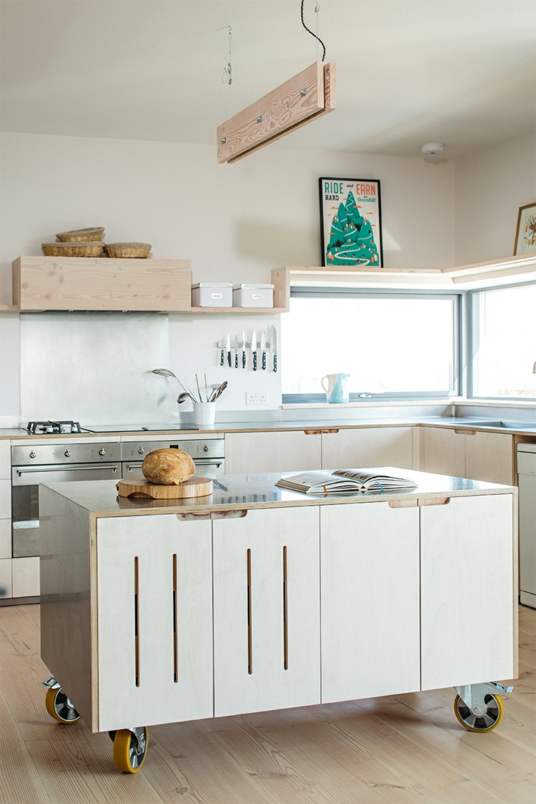 1001 idee per cucine moderne piccole soluzioni di design - Cucine in legno chiaro ...