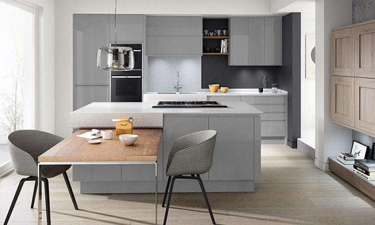 1001 idee per cucine moderne piccole soluzioni di design - Cucine idee e soluzioni ...