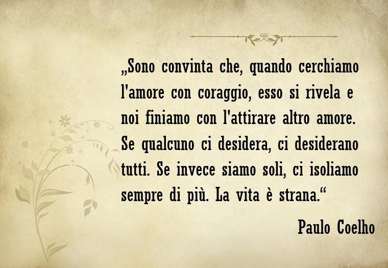 Frasi amore e una citazione dello scrittore Paulo Coelho