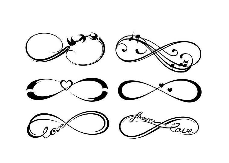Tatuaggi infinito, idee disegni dalle dimensioni piccole da fare da una donna