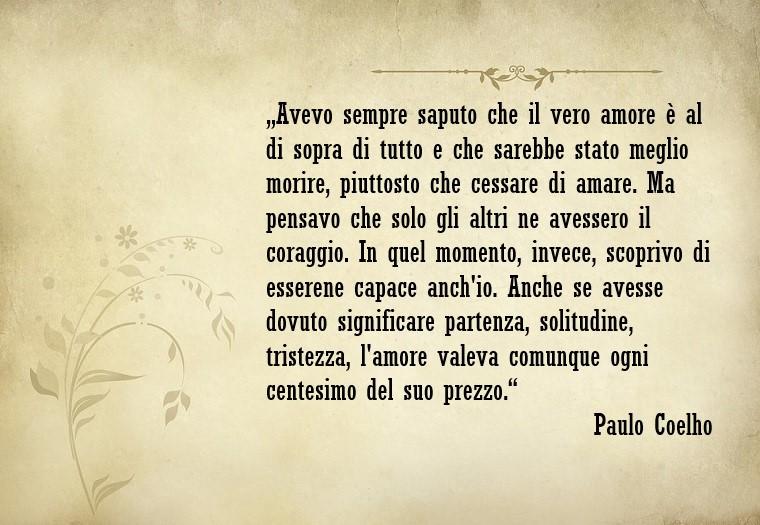 Pensieri d'amore e una citazione famosa di Paulo Coelho